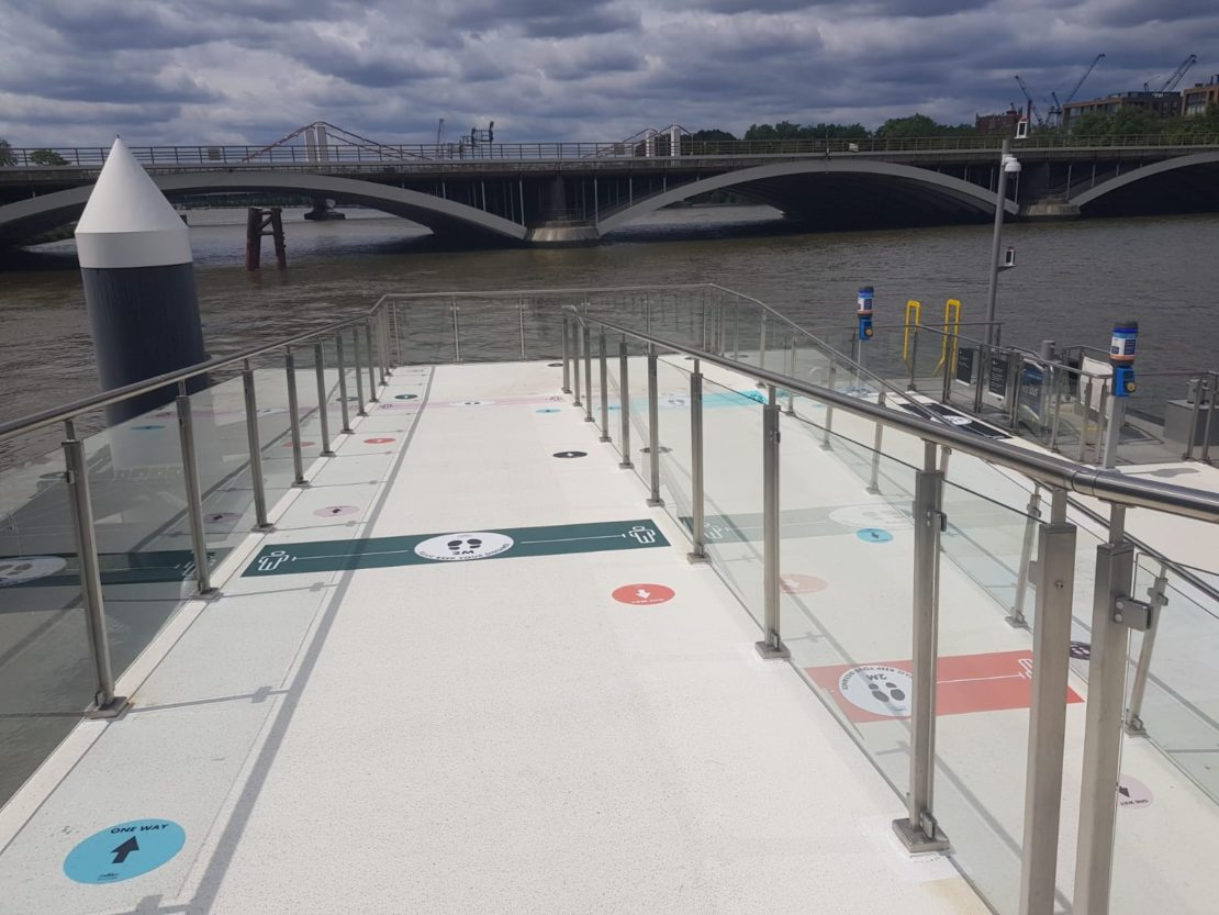 Social Distancing Graphics – Battersea Power Station – Production & Install