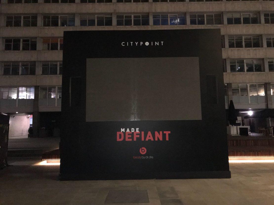 Beats by Dre – External vinyl wrapped TV screen