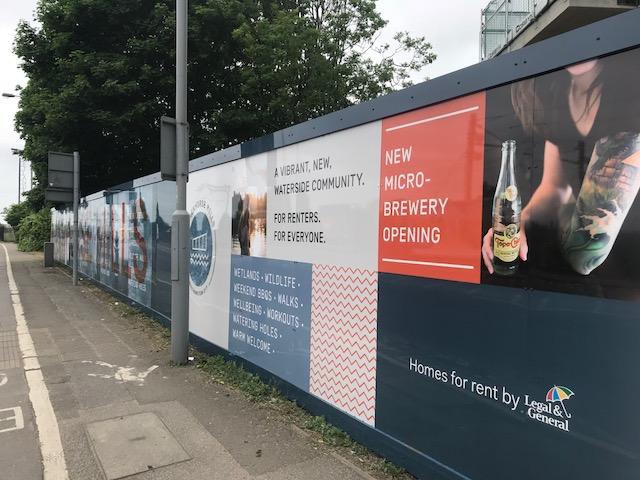 Blackhorse Mills, New Development – Hoarding graphics, London