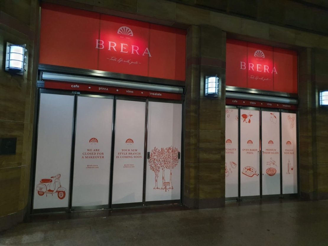 Café Brera – Vinyl window graphics