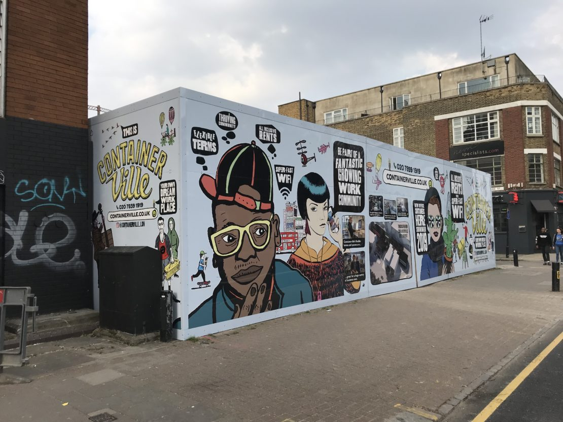 Hoarding Graphics – Hackney Road, London