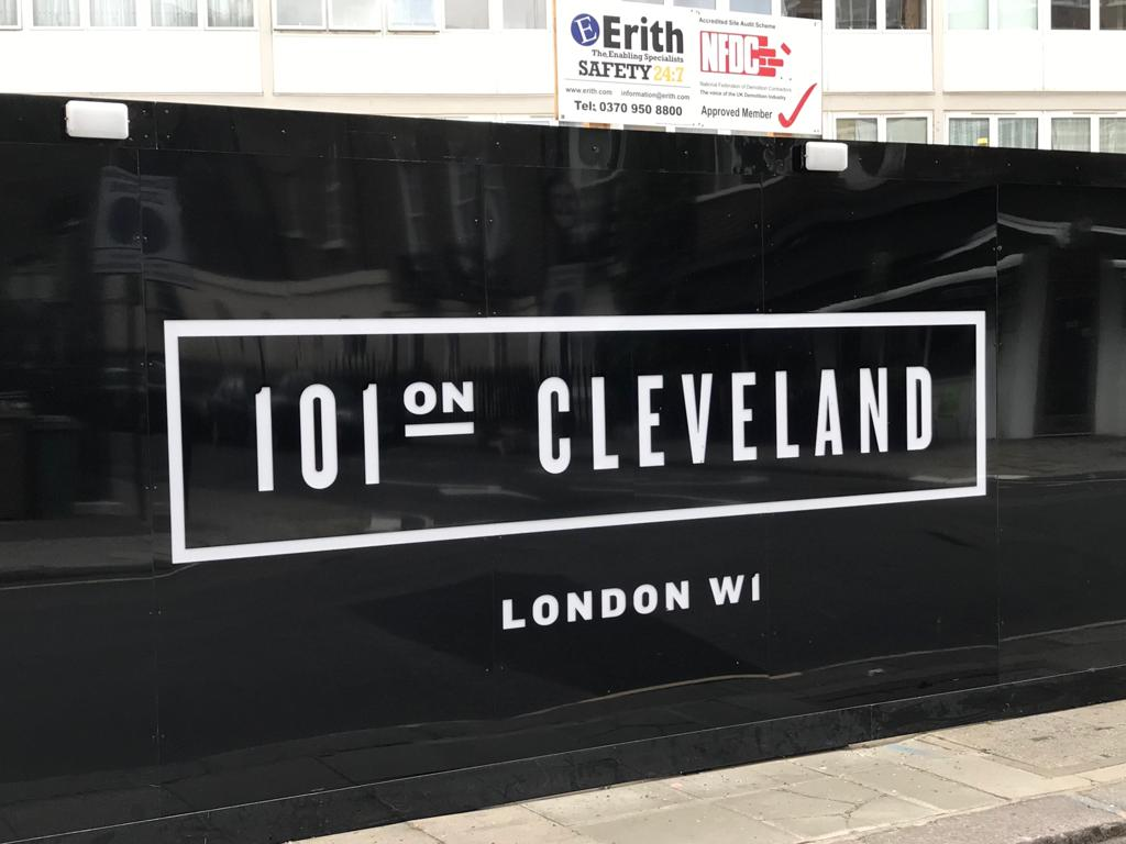 Hoarding Lightbox (illuminated logo) – London