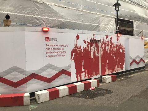 LSE – Hoarding graphics