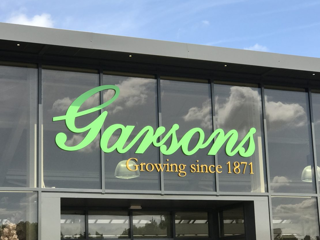 Garsons – Fret cut and powder coated signage