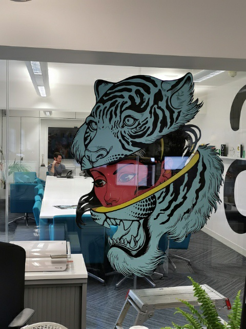 Office Glazing Graphics
