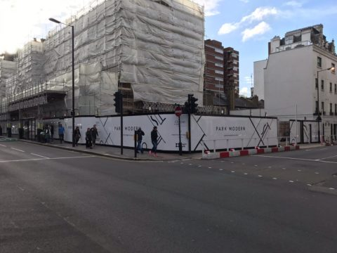 Hoarding Graphics – Park Modern development, London