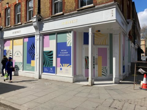 Privacy window graphics – retail outlet, London
