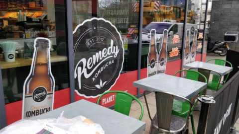 Remedy Drinks – Contra vision graphics for store roll-out