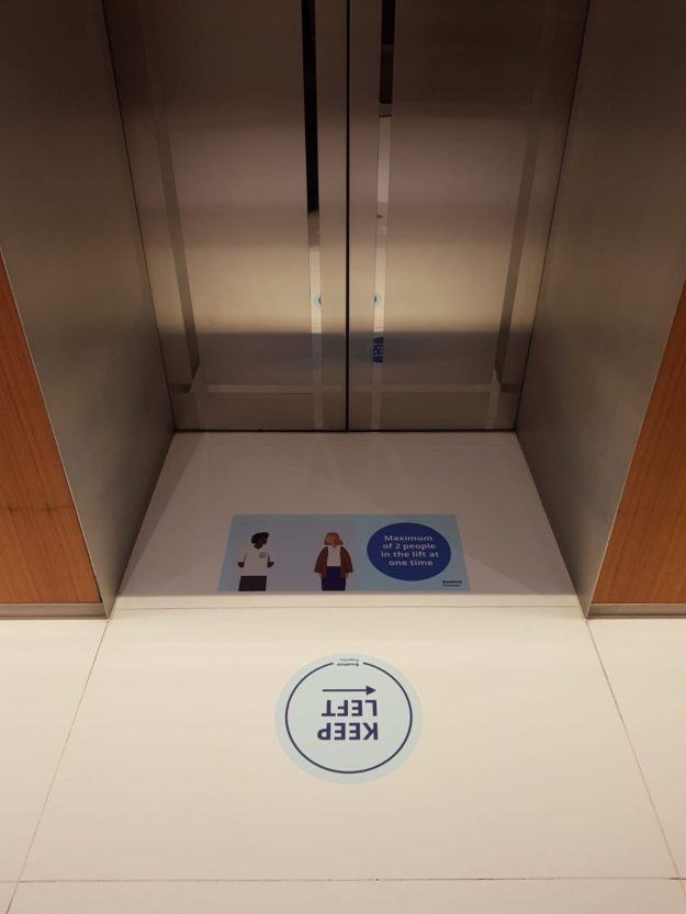 Social Distancing Graphics – Offices – Production & Install