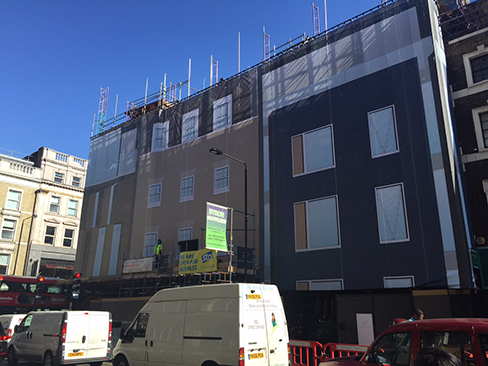 London – Building wrap