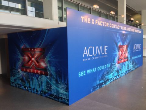Acuvue and XFactor – Hoarding graphics