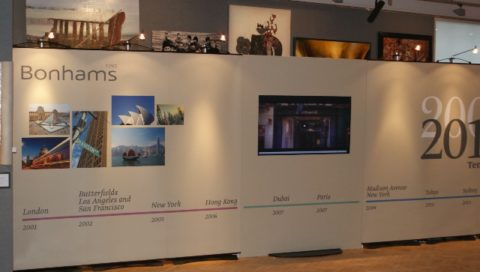 Bonhams – Exhibition stands