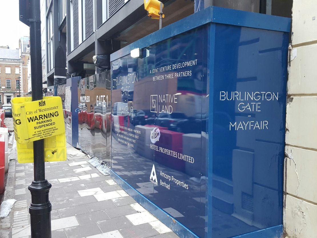 Burlington Gate – Hoarding graphics