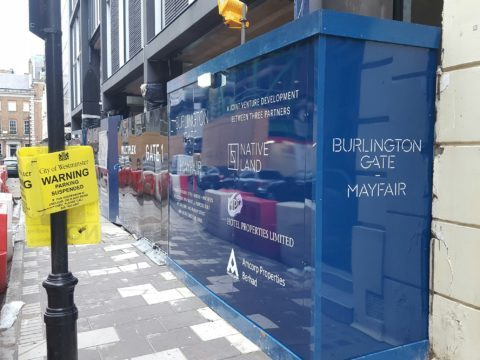 Burlington Gate – Hoarding graphics