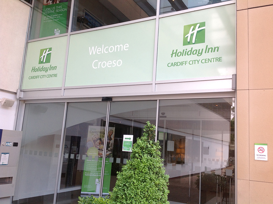 Holiday Inn, Cardiff – Entrance graphics