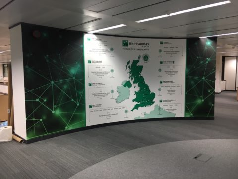 BNP Paribas – Printed wallpaper