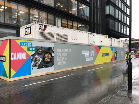 Principal Place –  Hoarding graphics, London