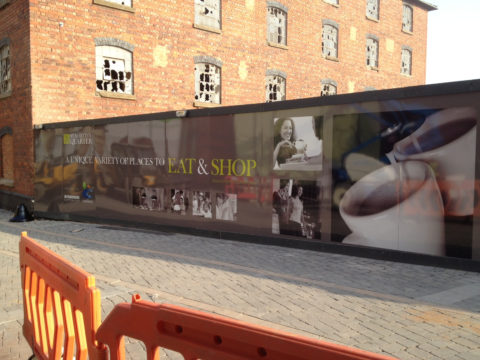 Worcester Hoarding and Glazing Graphics